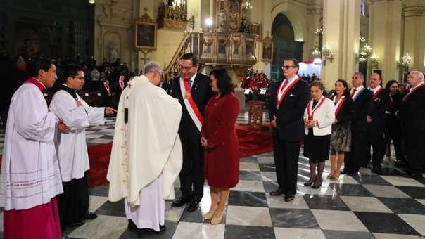 Las principales autoridades políticas asistieron a la misa solemne y tedeum.