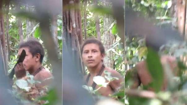 Capturas del video difundido sobre la etnia