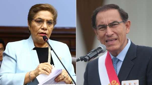 Luz Salgado criticó el mensaje de Martín Vizcarra.