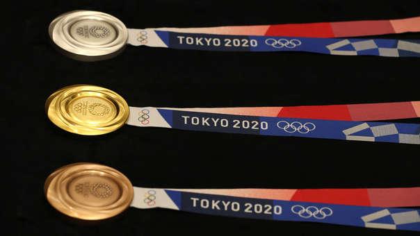 Las medallas olímpicas fueron elaboradas con material reciclado