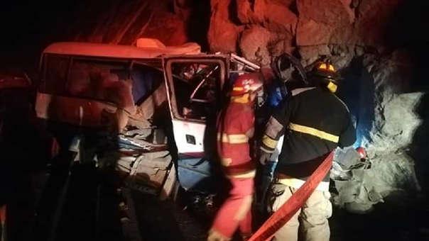 11 mujeres y ocho hombres fallecieron tras el despiste.