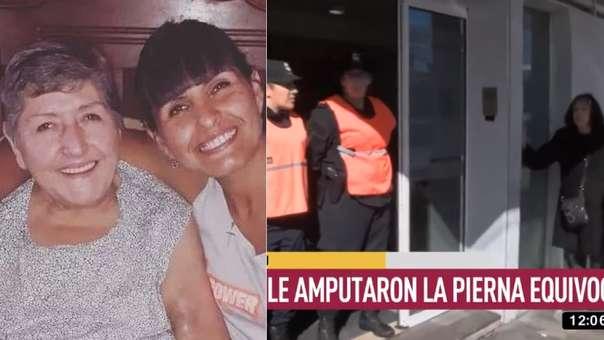 Magdalena Leguizamán y su hija (izquierida). El hospital donde ocurrió el hecho (derecha)