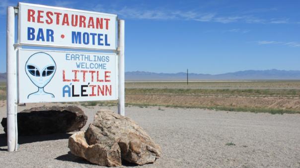 El acceso más cercano al Área 51 está en Rachel, Nevada