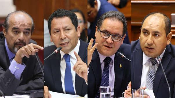 Mauricio Mulder, Clemente Flores, Luis Iberico y Richard Arce