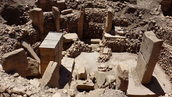 Vista de las ruinas del templo