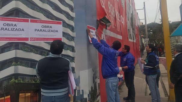 Municipalidad de Lima paraliza obra en Cercado