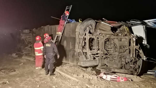 Accidente en Variante de Pasamayo