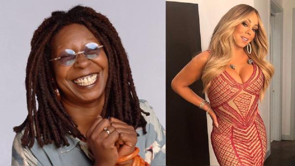 Whoopi Goldberg y Mariah Carey