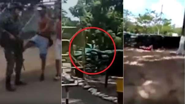Capturas de los videos vinculados al incidente