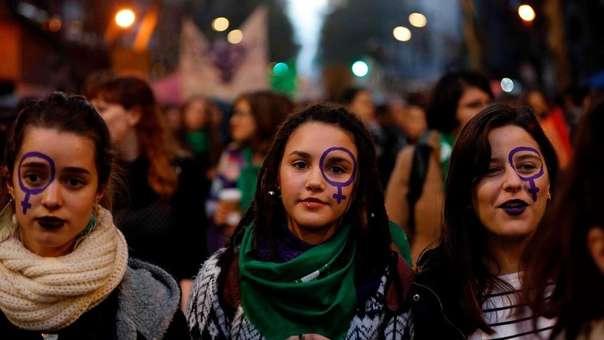 Marcha feminista en Argentina