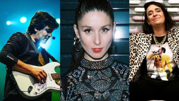 Lucho Quequezana, Francisca Valenzuela y DJ Shushupe