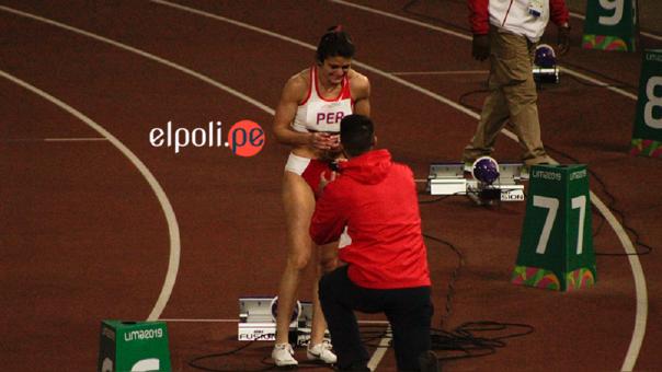 Paola Mautino recibió pedida de mano en plena pista atlética en los Juegos Panamericanos