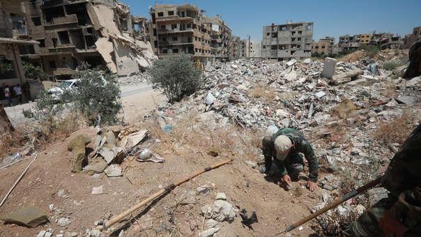 SYRIA-CONFLICT-LANDMINES-ARMY-UN