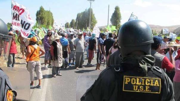 Protestas contra proyecto Tía María