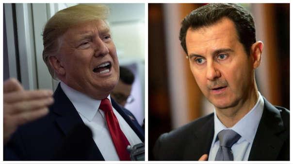 Donald Trump y Bashar al-Ásad.