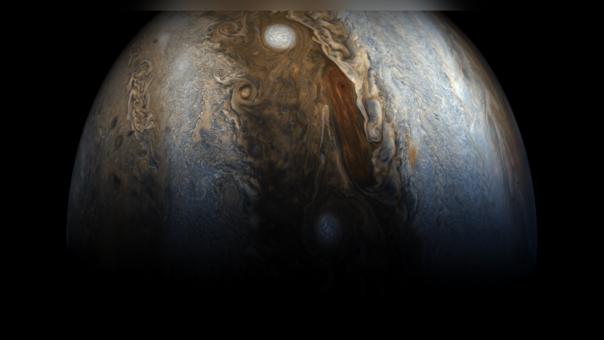 Júpiter es el planeta más grande del sistema solar y el quinto en cercanía al Sol.