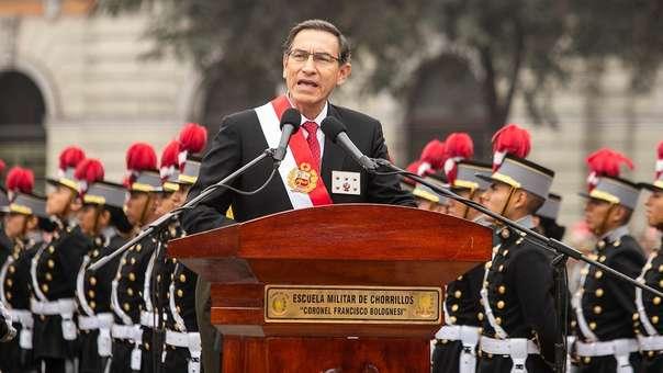 Presidente participó en la ceremonia por el Día de la Creación del Ejército del Perú Republicano.