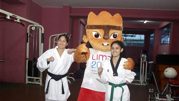 Alexandra Grande y Angélica Espinoza se encontraron para promover los Juegos Parapanamericanos Lima  2019