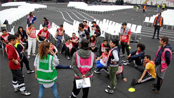 Artistas ultiman detalles para lo que será la ceremonia de inauguración de los Juegos Parapanamericanos Lima 2019.