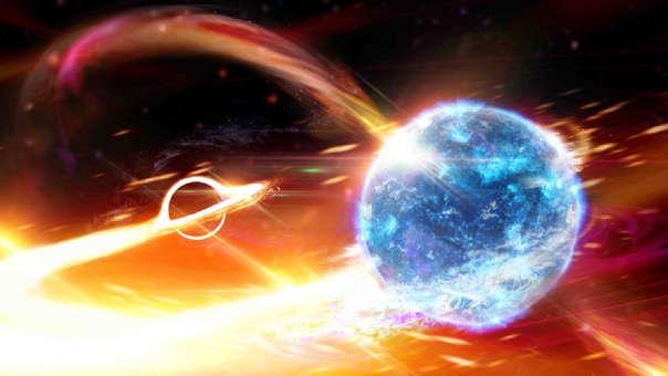 Resultado de imagen para Detectan por primera vez un agujero negro tragando una estrella de neutrones