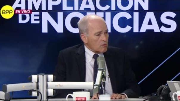 """Benavides Ganoza discrepó la afirmación de De Soto sobre Antauro Humala sea quien lidere el movimiento antiminero en Perú es """"simplificar el tema""""."""