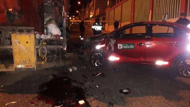 Conductor ebrio provocó accidente en el distrito de Miraflores en Arequipa.