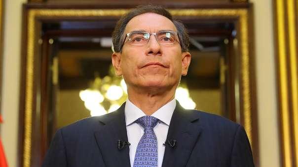 Martín Vizcarra espera la aprobación de la propuesta de adelanto de elecciones.