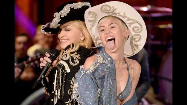Madonna y Miley Cyrus