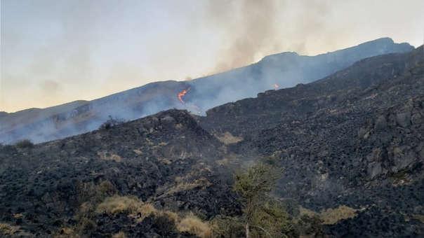Incendio en el Santuario Nacional de Ampay