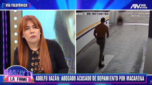 Macarena Vélez: Magaly Medina discutió con Adolfo Bazán Gutiérrez, denunciado por violación y tocamientos