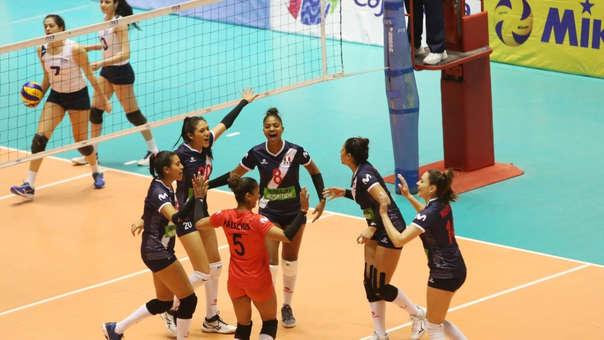 Perú venció 3-0 a Uruguay por la segunda fecha del Sudamericano de Voleibol