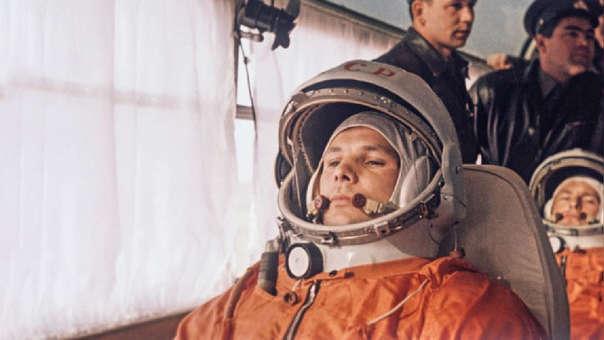Yuri Gagarin, el primer hombre en llegar al espacio.