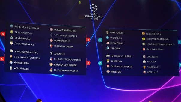 Así quedó la fase de grupos de la Champions League