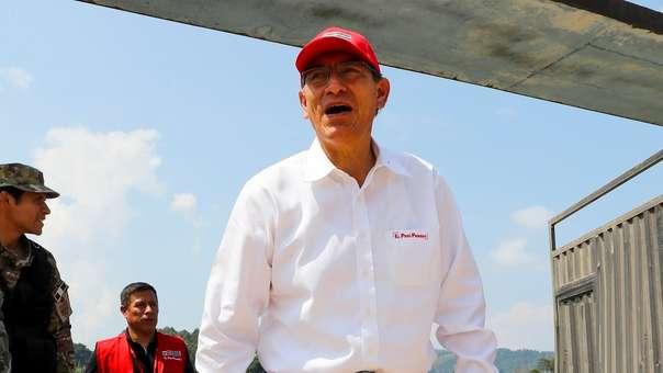 El presidente participó en la inauguró de la carretera La Jalca - Nueva Esperanza.