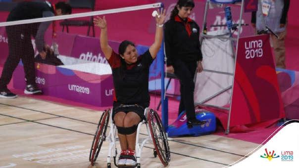 Pilar Jáuregui ganó medalla de oro en para bádminton en los Juegos Parapanamericanos