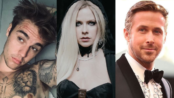 Justin bieber, Avril Lavigne y Ryan Gosling.