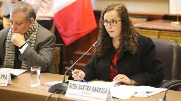 Rosa Bartra es presidenta de la Comisión de Constitución.