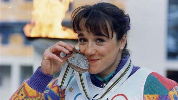 Blanca Fernández Ochoa ganó la medalla de bronce en los Juegos Olímpicos de Invierno de 1992