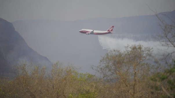 Avión Boeing 747 utilizado para sofocar el incendio en la Amazon