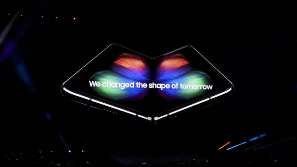 El Galaxy Fold fue anunciado en febrero junto al Galaxy S10 en San Francisco.