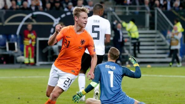 Frenkie de Jong marcó su primer gol con Holanda