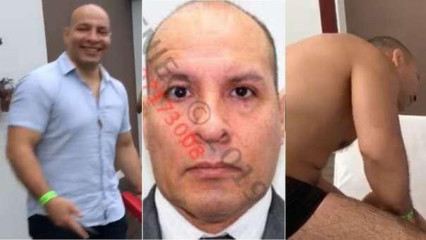Izquierda y derecha: capturas de los videos que muestran a Bazán y su grupo de amigos. Centro: ficha de Bazán en Reniec.