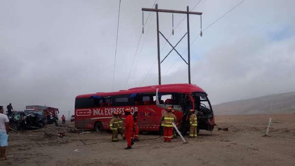 Así quedó el bus interprovincial.