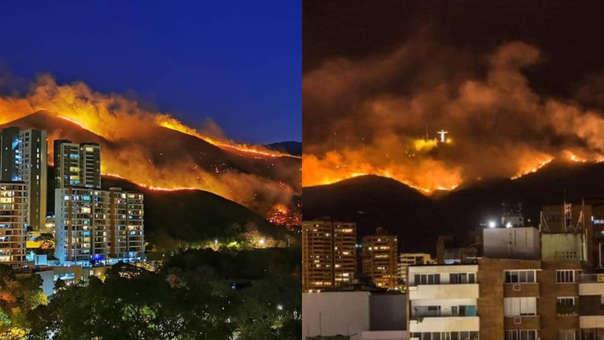 Incendio forestal en Cali