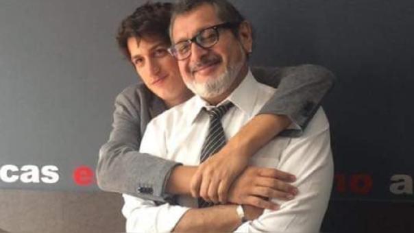 Stefano Tosso y su padre