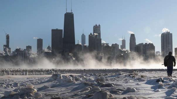 Ola polar en Chicago, Estados Unidos, en enero de este año.