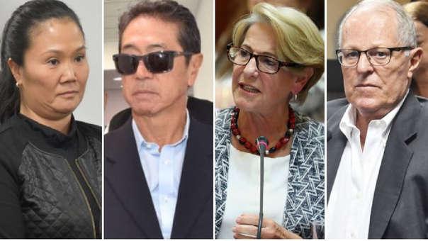 Keiko Fujimori, Jaime Yoshiyama, Susana Villarán y Pedro Pablo Kuczynski