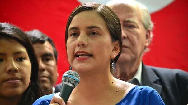 Verónika Mendoza fue candidata presidencial en las pasadas elecciones.