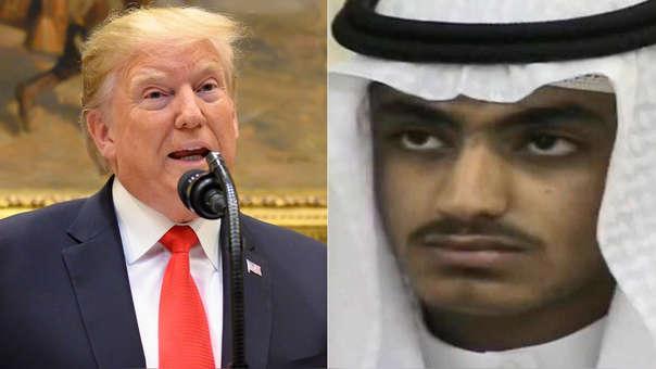 Izquierda: Donald Trump. Derecha: Hamza bin Laden.