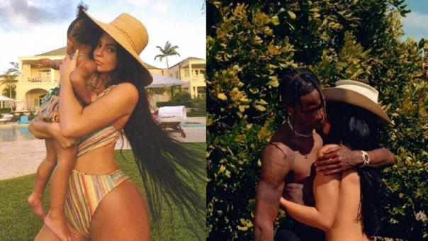 Kylie Jenner, Travis Scott y Stormi.